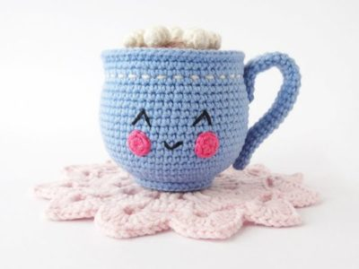 crochet Hot Cocoa with Marshmallows amigurumi pattern