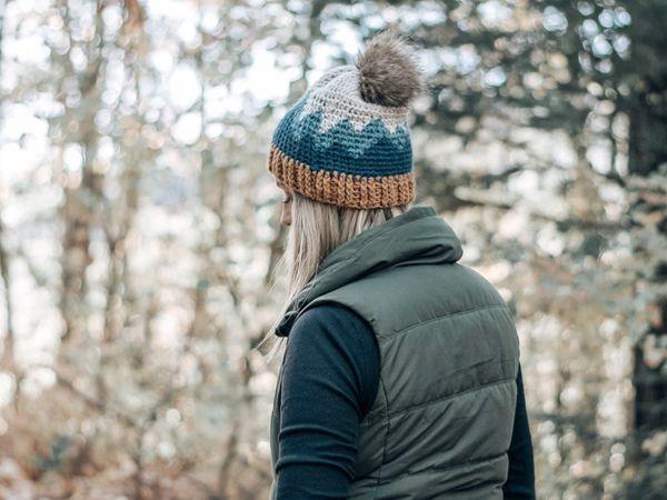 crochet Mountain Range Hat pattern