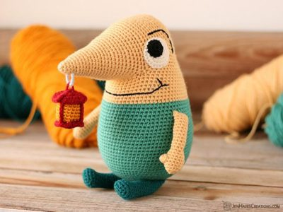 crochet Mr. Drippy amigurumi free pattern