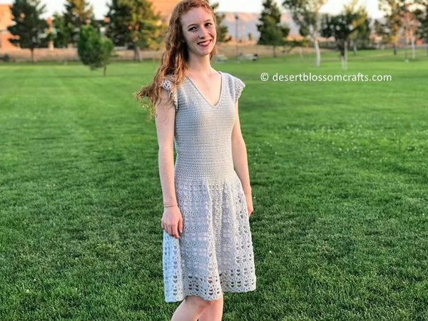crochet Parisian Dress free pattern