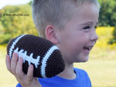 crochet Plush Football free pattern