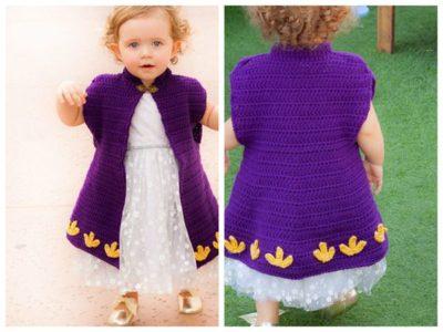crochet Princess Crochet Cape Coat free pattern