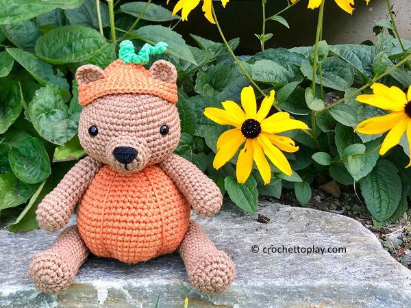 crochet Pumpkin Patch Bear free pattern