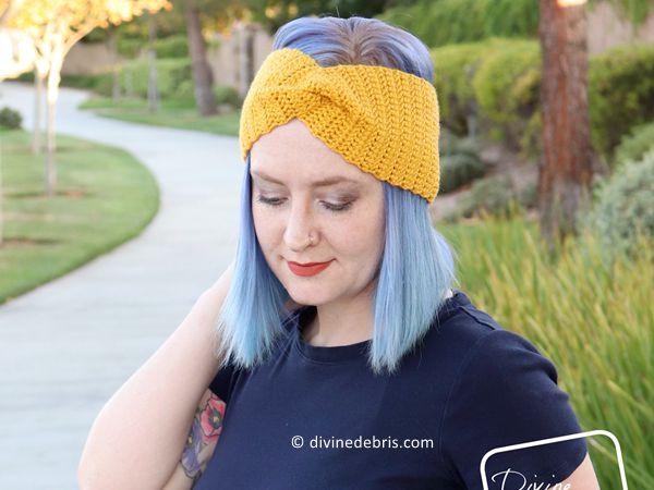 crochet Simple Twist Headband free pattern