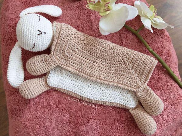 crochet Sleepy Bunny Lovey free pattern