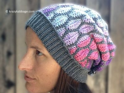 crochet Stained Glass Slouch free pattern