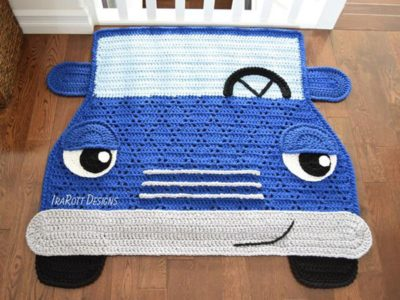 crochet The Hybrid Car Rug easy pattern