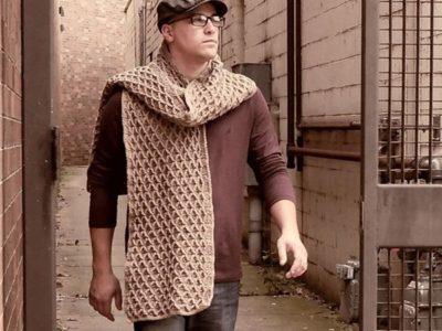crochet The Uptown Blanket Scarf free pattern