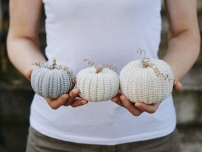 crochet Three Rustic Pumpkins easy pattern