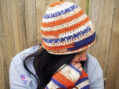 crochet Tracy Hat and Gloves free pattern
