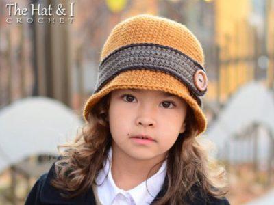 crochet Uptown Girl Hat free pattern