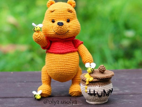 crochet Winnie the Pooh free pattern
