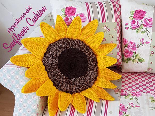 CROCHET Sunflower Pillow free pattern