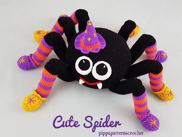 Crochet Spider Cushion Decoration