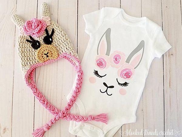 EASY Crochet Baby Llama Hat pattern