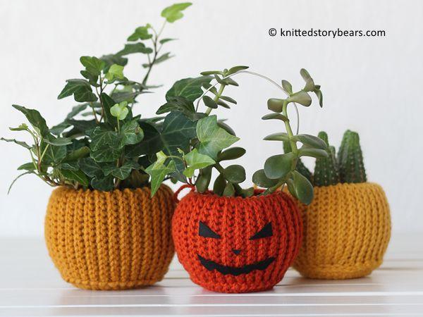 Flowers crochet pot