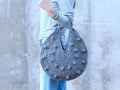 bobbles circle tote crochet pattern