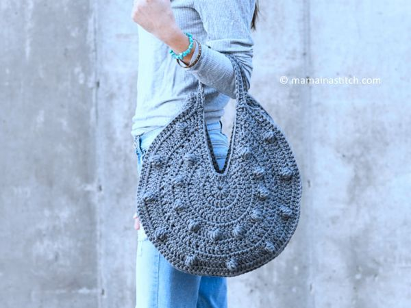 bobbles circle tote crochet pattern