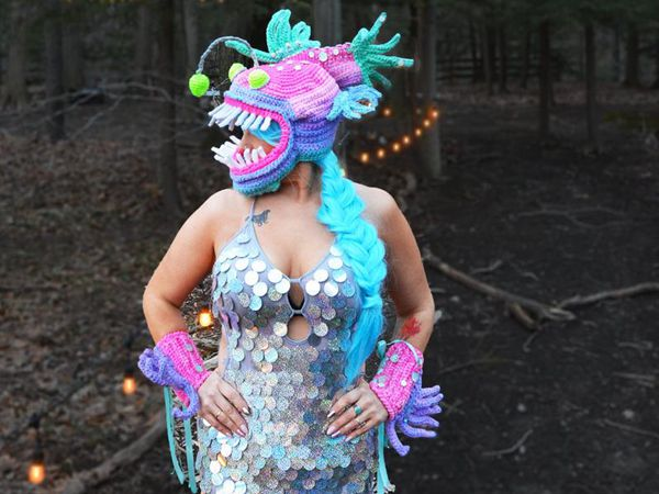 crochet Angler Fish Crochet Hat Costume free pattern