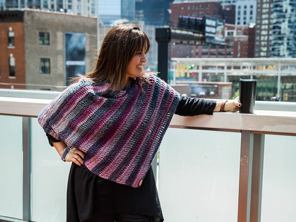 crochet Bettendorf Poncho Shawl free pattern