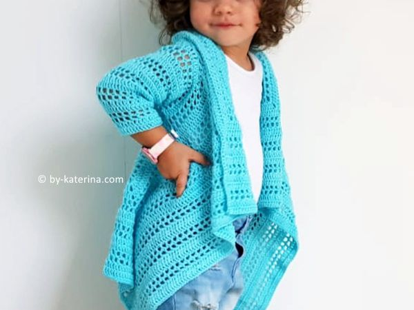 crochet Blue Sky Cardigan free pattern