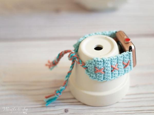 crochet Boho Apple Watch Band free pattern