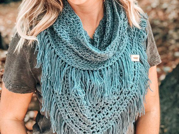 crochet Boho Infinity Scarf pattern