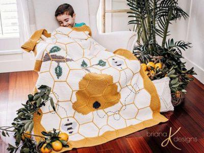 Buzzing Beehive Crochet Blanket