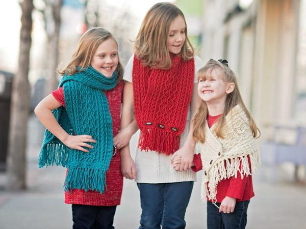 crochet Cabled Zig Zag Scarf easy pattern