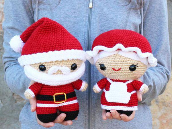 crochet Cuddle-Sized Santa Claus Mrs Claus