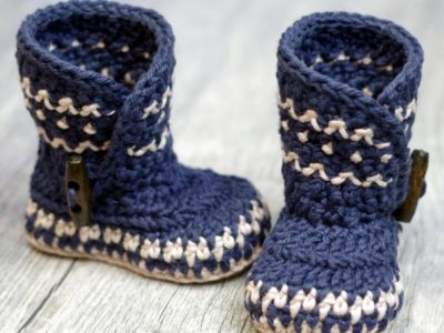 crochet Dakota Baby Boot easy pattern
