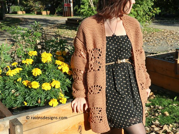crochet Fall For Me Cardigan free pattern