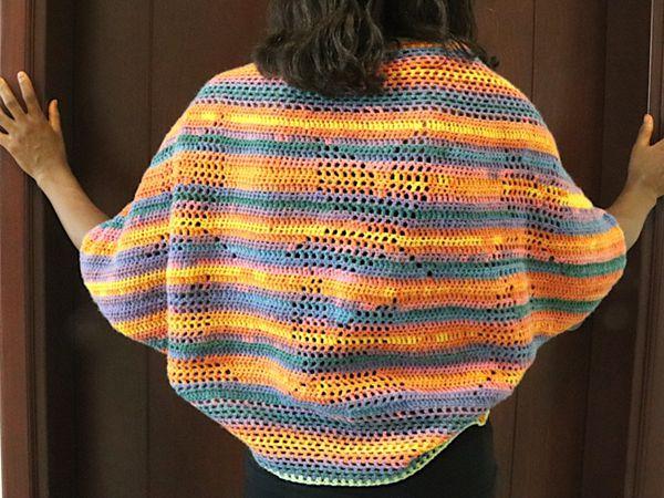 crochet Fall Leaves Shrug free pattern
