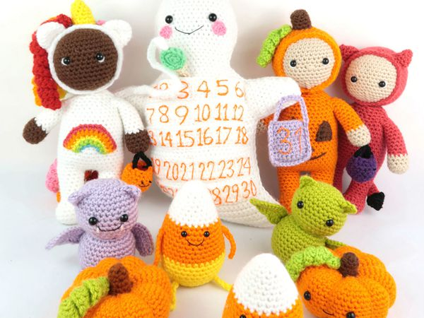 crochet Halloween Amigrumi Set free pattern