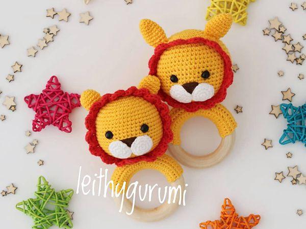crochet Leon Baby Rattle free amigurumi pattern