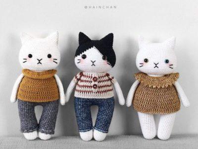 crochet Mochi & Oreo Amigurumi