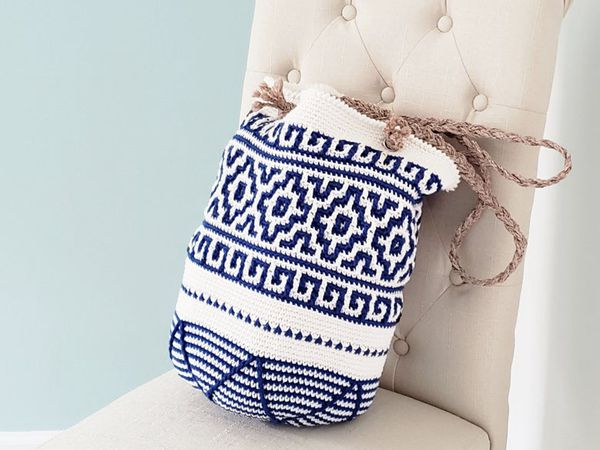 crochet Mykonos Tote easy pattern