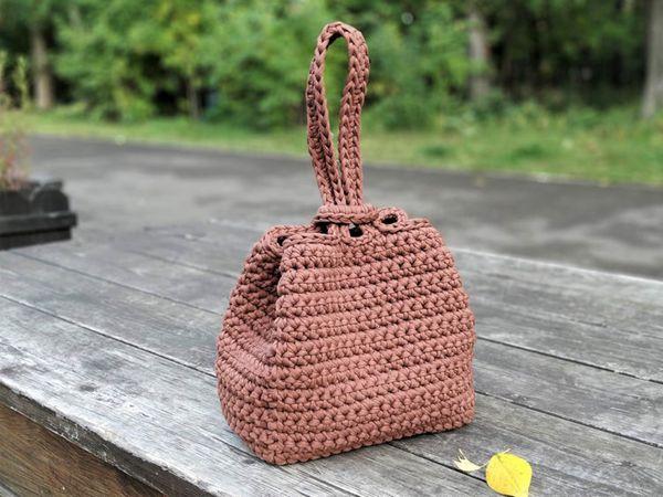 crochet One Handle Bag easy pattern
