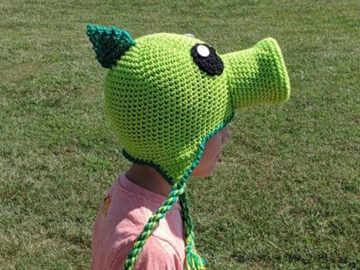 crochet Pea Shooter Crochet Hat free pattern
