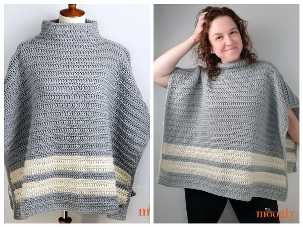 crochet Playoff Poncho free pattern