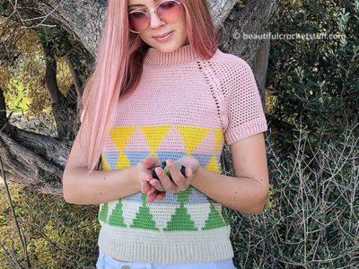 crochet Raglan Sweater free pattern