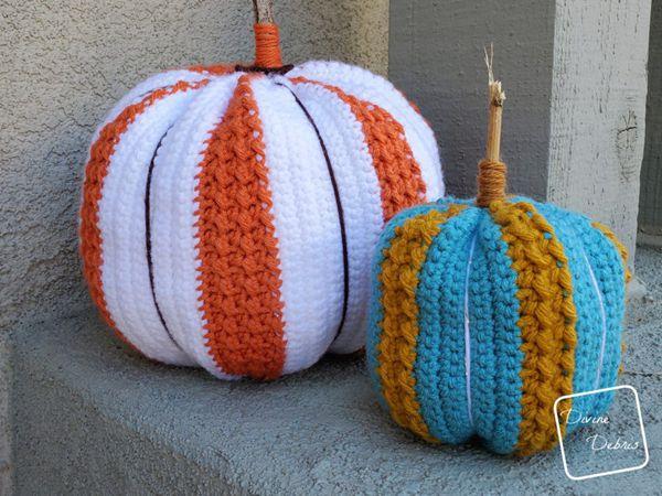 crochet Simple Striped Pumpkin free pattern