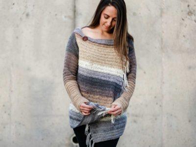 crochet Strata Sweater free pattern