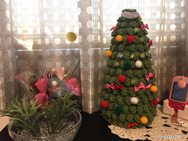 crochet Tabletop Christmas Tree free pattern