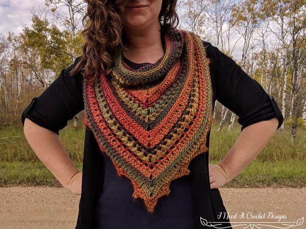 crochet The Bauble Bandana Cowl free pattern