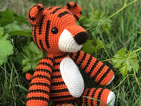 crochet Thomas the Tiger free pattern