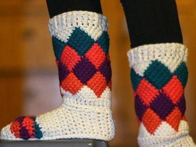 crochet Tutti Frutti Crochet Slippers free pattern