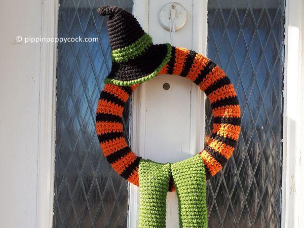 crochet Winne Halloween Wreath free pattern