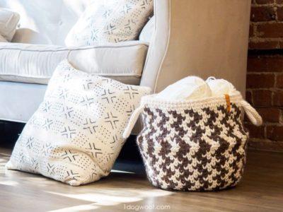 crochet Zig Zag Belly Basket free pattern