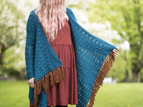 Crochet The Kingfisher Cardigan easy pattern